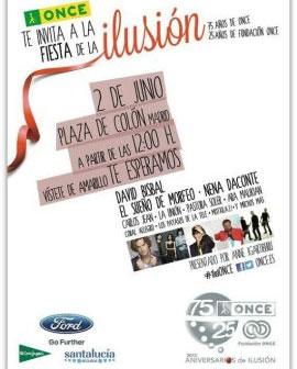 """Cartel promocional del acto """"Aniversarios de Ilusión"""""""