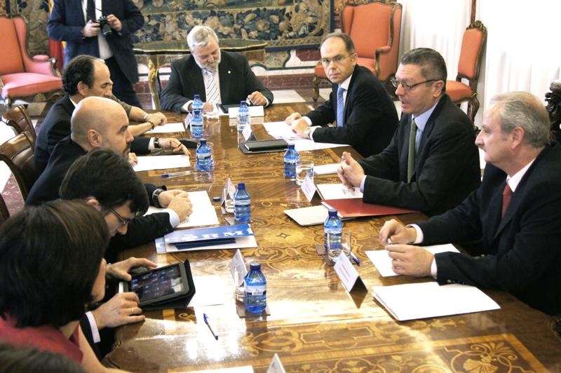 Reunión del CERMI con el ministro Gallardón celebrada en 2012