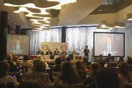 Inauguración del VII Congreso Estatal de CERMIS Autonómicos, con la imagen de Patxi López