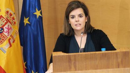 Soraya Sáenz de Santamaría, vicepresidenta del Gobierno, ministra de la Presidencia y portavoz del Gobierno
