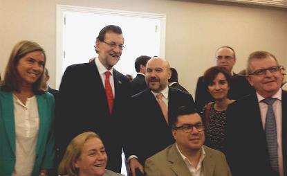 Representantes del CERMI, con Mariano Rajoy y Ana Mato