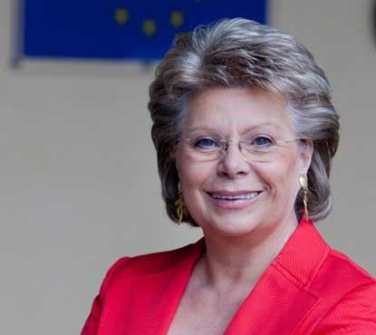 Viviane Reding, vicepresidenta de la Comisión Europea y comisaria de Justicia, Derechos Fundamentales y Ciudadanía