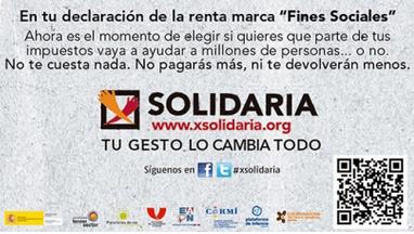 Imagen de la campaña de la X solidaria