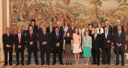 La Princesa de Asturias junto a una representación de la Federación Iberoamericana de Síndrome de Down (© Casa de S.M. el Rey / Borja Fotógrafos)