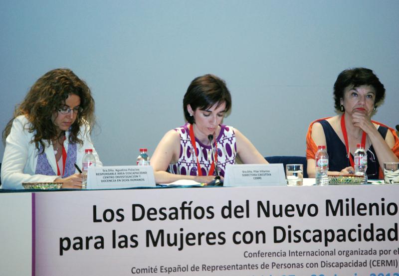 Imagen de la conferencia internacional sobre la mujer con discapacidad celebrada en 2012 en Madrid