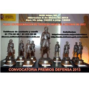 Imagen de la convocatoria de los Premios de Defensa 2013