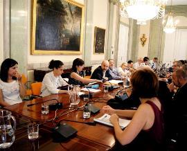 Imagen de la reunión del Comité Ejecutivo del CERMI, reunido en la sede del Ministerio de Justicia