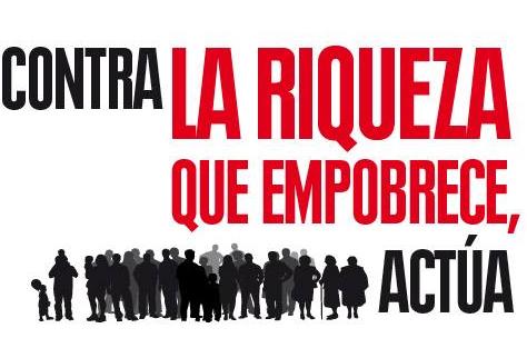 """Cartel """"Contra la riqueza que empobrece"""""""