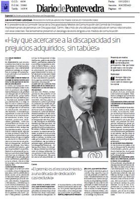 Imagen de la entrevista a Juan Antonio Ledesma en diarios de Galicia