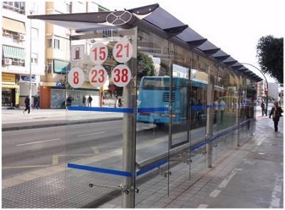 Marquesina de Málaga con audio accesible