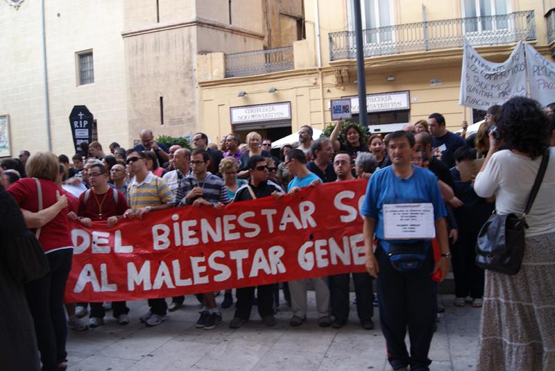 Imagen de una manifestación del sector de la discapacidad en Valencia