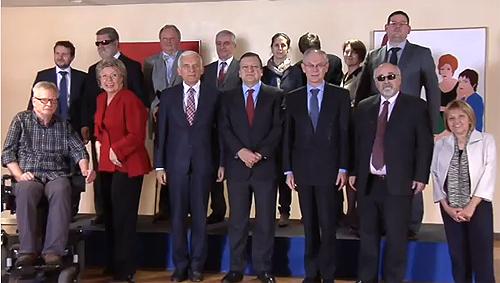 Imagen del primer encuentro de presidentes para el Estado de la Unión sobre la Discapacidad