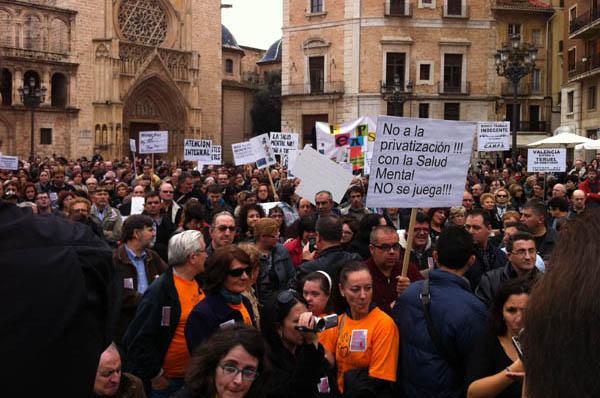 Imagen de la protesta en Valencia