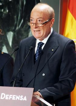 Andrés Medina, presidente de ACIME, en su intervención en los Premios de Defensa de 2013