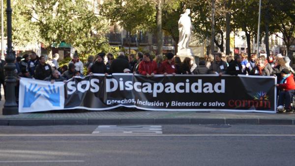 SOS Discapacidad en las calles de Navarra