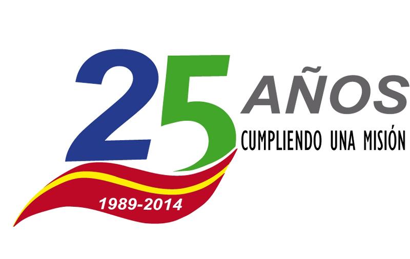 Logotipo del 25 aniversario de Acime