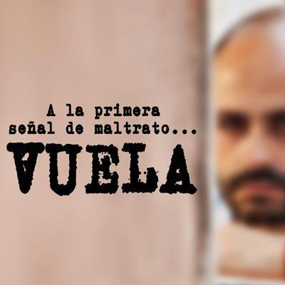Cartel de la campaña 'Vuela' de la Consejería de Asuntos Sociales de la Comunidad de Madrid, a través de la Dirección General de la Mujer, con motivo del día 25 de noviembre, Día Internacional para la