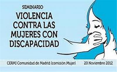 Póster del 'Seminario violencia contra las mujeres con discapacidad' realizado por el Cermi Comunidad de Madrid hace un año