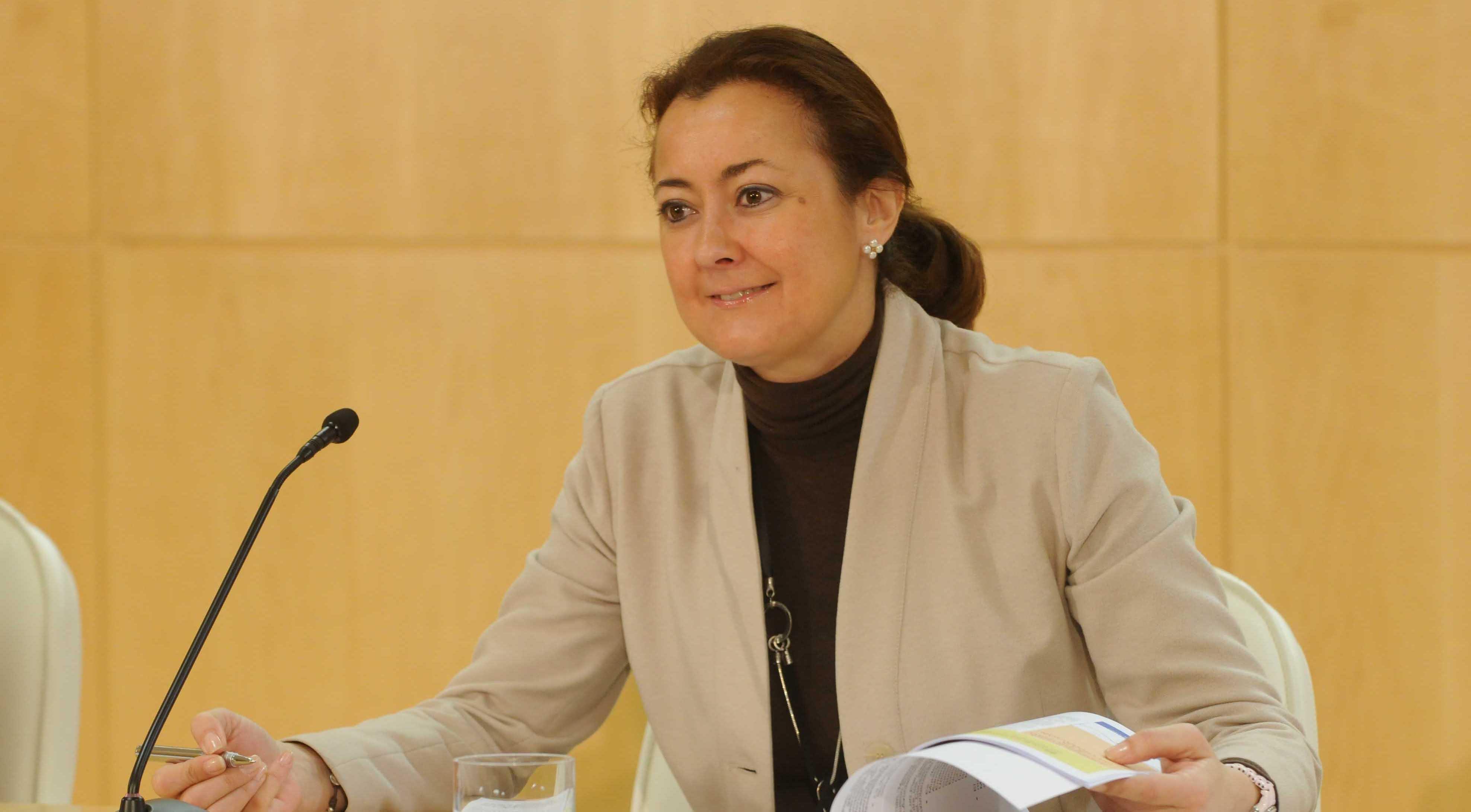 La delegada de Familia, Servicios Sociales y Participación Ciudadana, Dolores Navarro, presenta en rueda de prensa el Primer Plan de Inclusión Social para Personas con Discapacidad
