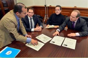 Reunión del CERMI Cantabria y el gerente de la Sociedad de Vivienda y Suelo (SVS) de Santander
