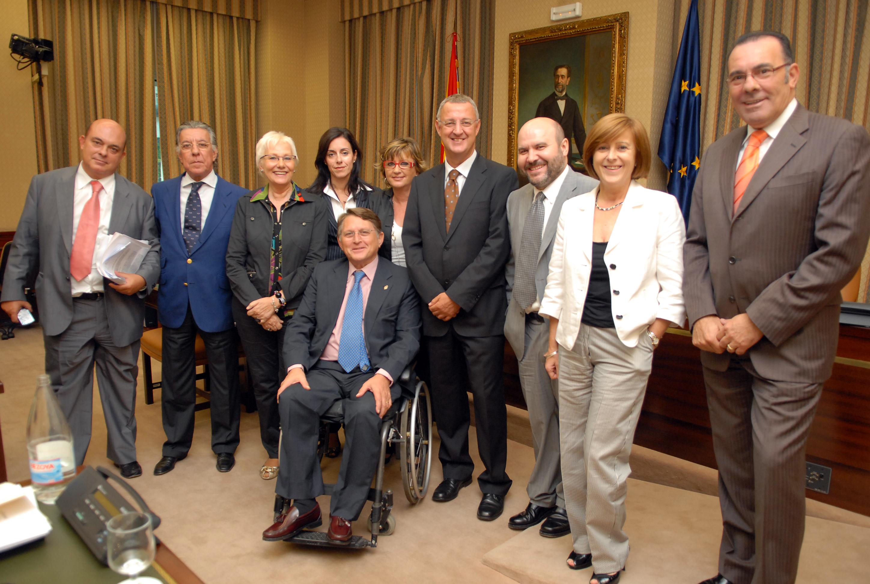 El presidente del CERMI con la Comisión Permanente para las Políticas Integrales de la Discapacidad del Congreso de los Diputado de la anterior legislatura