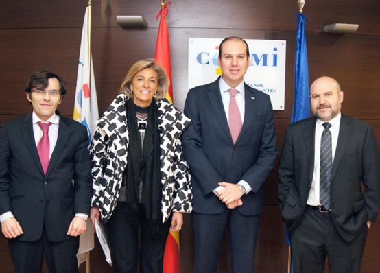 El consejero Extremadura visita la sede del CERMI