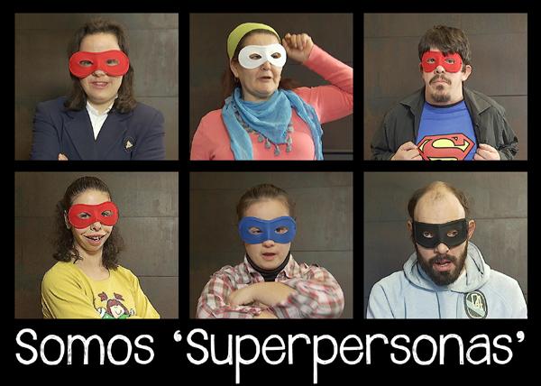 Montaje fotográfico con 'superpersonas' de la web de Feaps