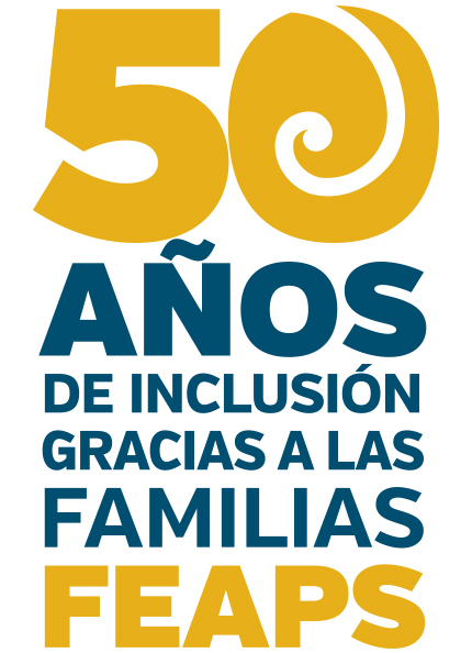 Cartel conmemorativo de los 50 años de Feaps