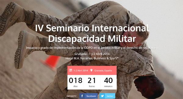 Imagen de la web del IV Seminario Internacional de Discapacidad Militar