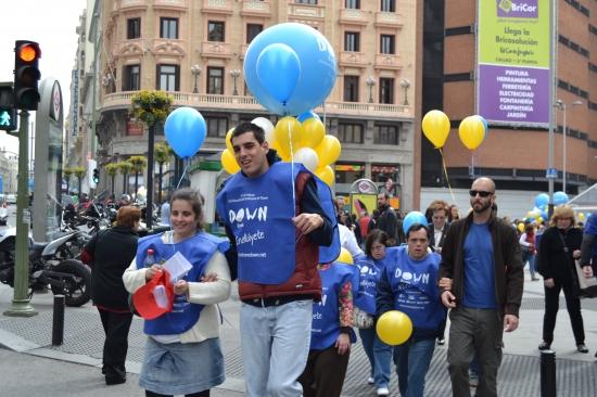 Uno de los recorridos solidarios de Down España que cruzó Madrid