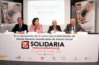 Presentación de la campaña X Solidaria 2014