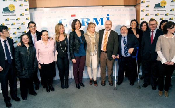 Reunión en la Fundación CNSE entre el CERMI y Elena Valenciano