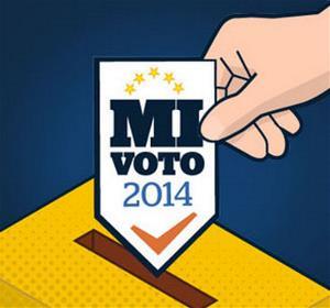 Dibujo sobre la votación en las elecciones europeas 2014