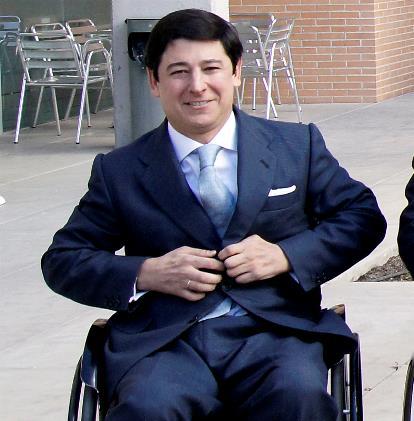 Borja Fanjul, usuario de silla de ruedas y candidato popular a las elecciones al Parlamento Europeo