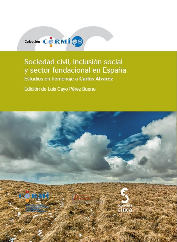 """Portada de la publicación titulada """"Sociedad civil, inclusión social y sector fundacional en España"""""""