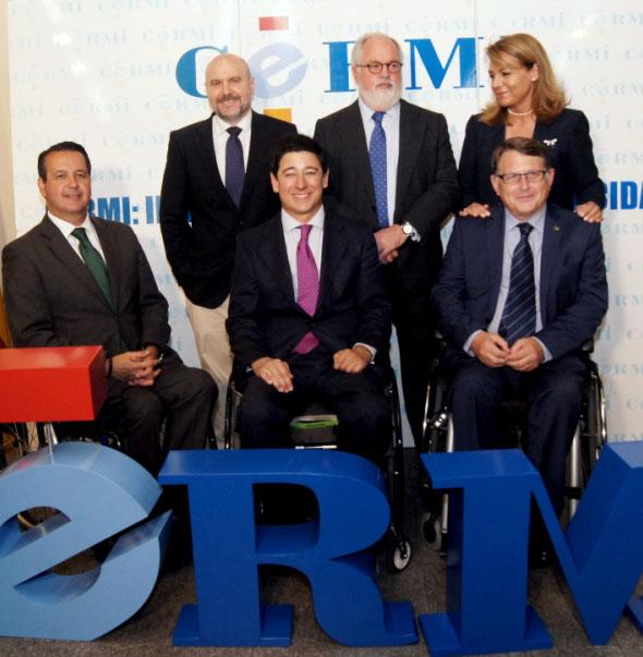 Encuentro celebrado en la sede del CERMI con el cabeza de lista del Partido Popular a las elecciones europeas, Miguel Arias Cañete