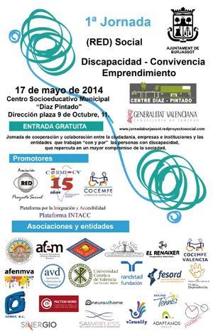 Cartel de la I Jornada sobre Discapacidad, Convivencia y Emprendimiento