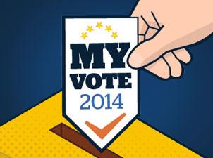"""Ilustración sobre las elecciones europeas donde se lee """"Mi voto - 2014"""""""