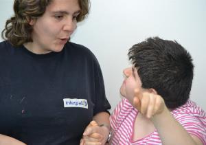 Carmen, cuidadora de la Fundación Carlos Martín