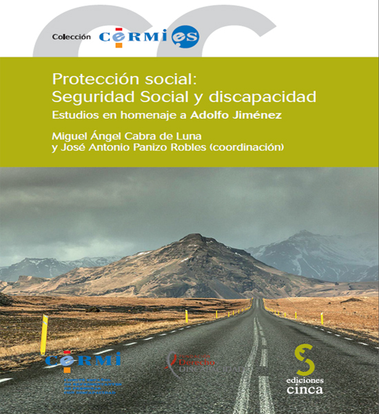 """Portada del libro """"Protección social: Seguridad Social y Discapacidad. Estudios en homenaje a Adolfo Jiménez"""""""