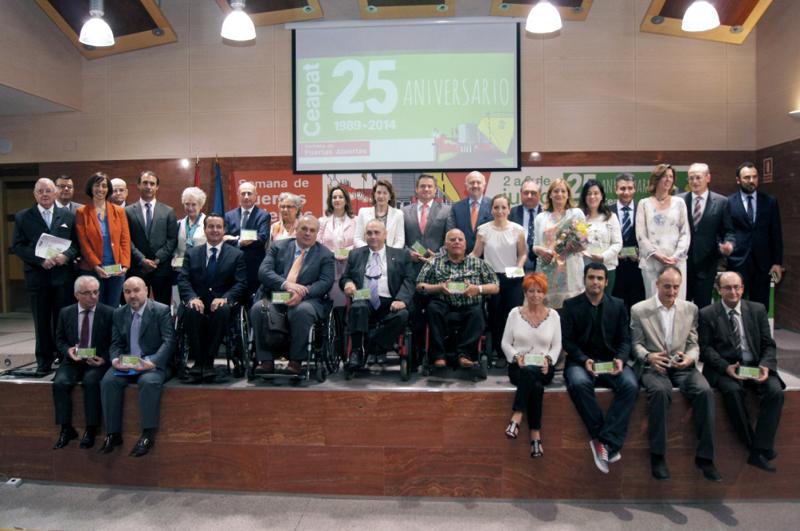 Entrega de premios en la sede del CEAPAT, en el marco del acto central de celebración del 25 aniversario del organismo
