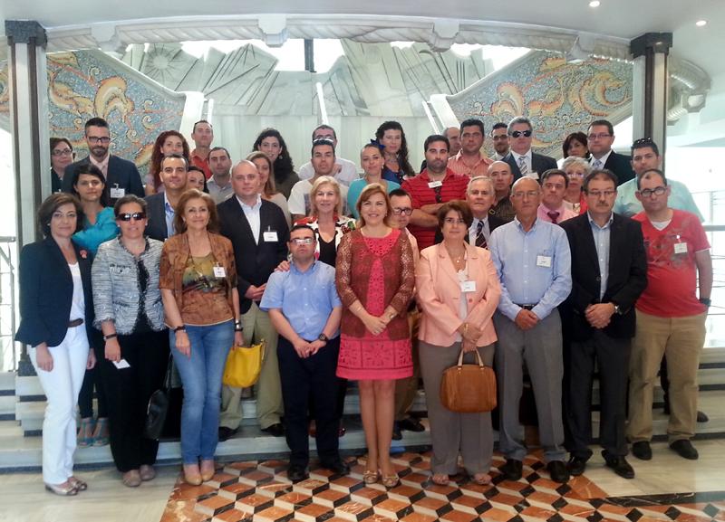 Foto de familia tras la Asamblea regional que aprueba la incorporación del CERMI Región de Murcia al Consejo Económico y Social de la Comunidad