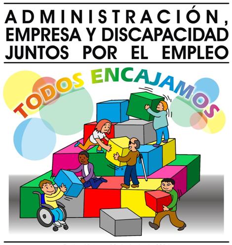 Imagen del cartel de la Jornada 'Administración, empresa y discapacidad. Juntos por el empleo'