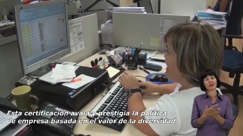 Una imagen del vídeo del Sello Bequal