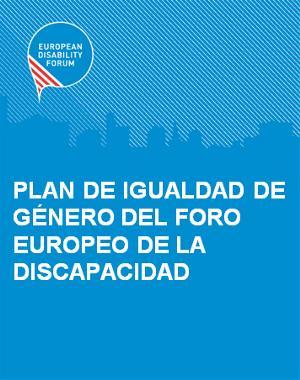 Portada del Plan de Igualdad de Género del Foro Europeo de la Discapacidad