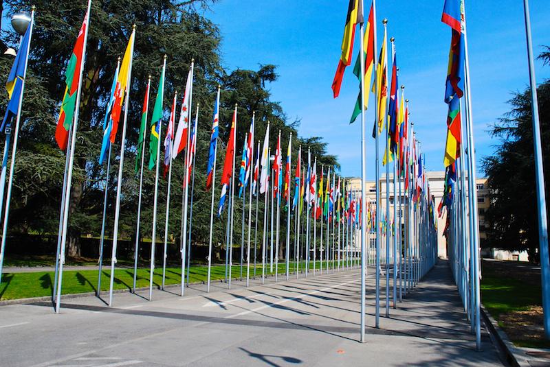 Banderas en la ONU (Ginebra)