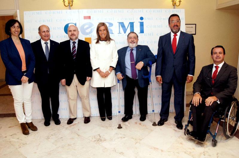 La ministra de Sanidad, Servicios Sociales e Igualdad, Ana Mato, en la apertura de la Asamblea Anual del CERMI