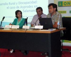 Jorge de Dios Sáez, coordinador de Proyectos de Cooperación y Desarrollo Rural de Asprodes Salamanca interviene en la jornada de fondos europeos