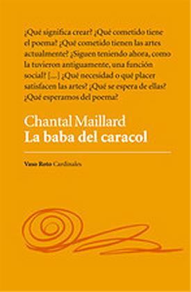 """Portada del libro """"La baba de caracol"""", de Chantal Maillard, poeta"""