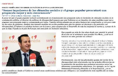 Entrevista a Ignacio Tremiño, Director General de Políticas de Apoyo a la Discapacidad